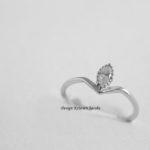 ring illuminate collectie met markies diamant, handmade, handgemaakt in eigen atelier te Mechelen