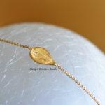 Olm collectie armbandje, geel goud. Handgemaakte juwelen in Mechelen