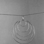 Hanger sterling zilver grote cirkels