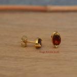 oorbellen granaat geel goud