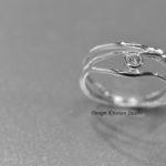 Illuminate collectie ring wit goud met briljant